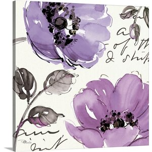 Floral Waltz Plum II Painting Print on Wrapped Canvas by Great Big Canvas