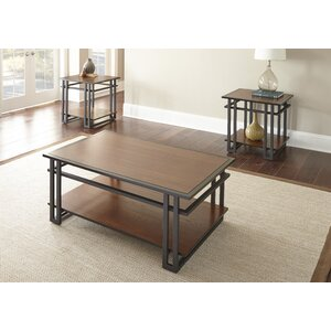 Amskroud 3 Piece Coffee Table Set by World Menagerie