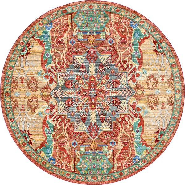 Bungalow Rose Rune Peach Area Rug & Reviews