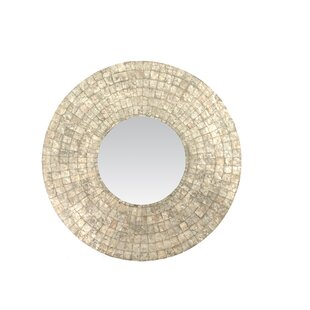 Bungalow Rose Meigs Traditional Round Wall Mirror