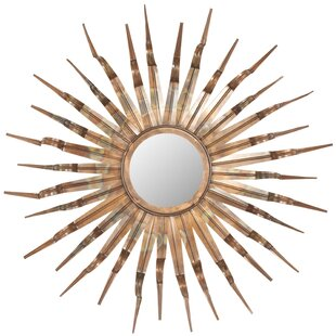 World Menagerie Bronze and Gold Sun Wall Mirror