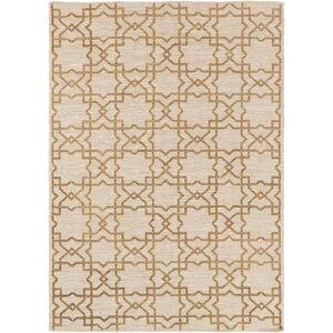 Hand-Woven Gold/Light Gray Area Rug