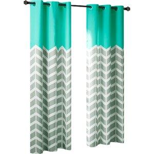 Alex Chevron Room Darkening Grommet Curtain Panels (Set of 2)