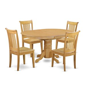 Emmaline 5 Piece Extendable Solid Wood Dining Set By Alcott Hill