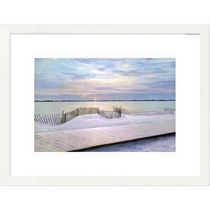 'Coastal Twilight Time' by Diane Romanello Framed Graphic Art by Global Gallery