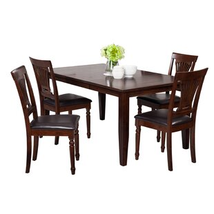 Haan 5 Piece Solid Wood Dining Set By Red Barrel Studio