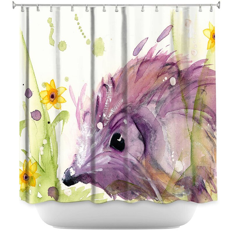 Hedgehog In The Wildflowers Shower Curtain