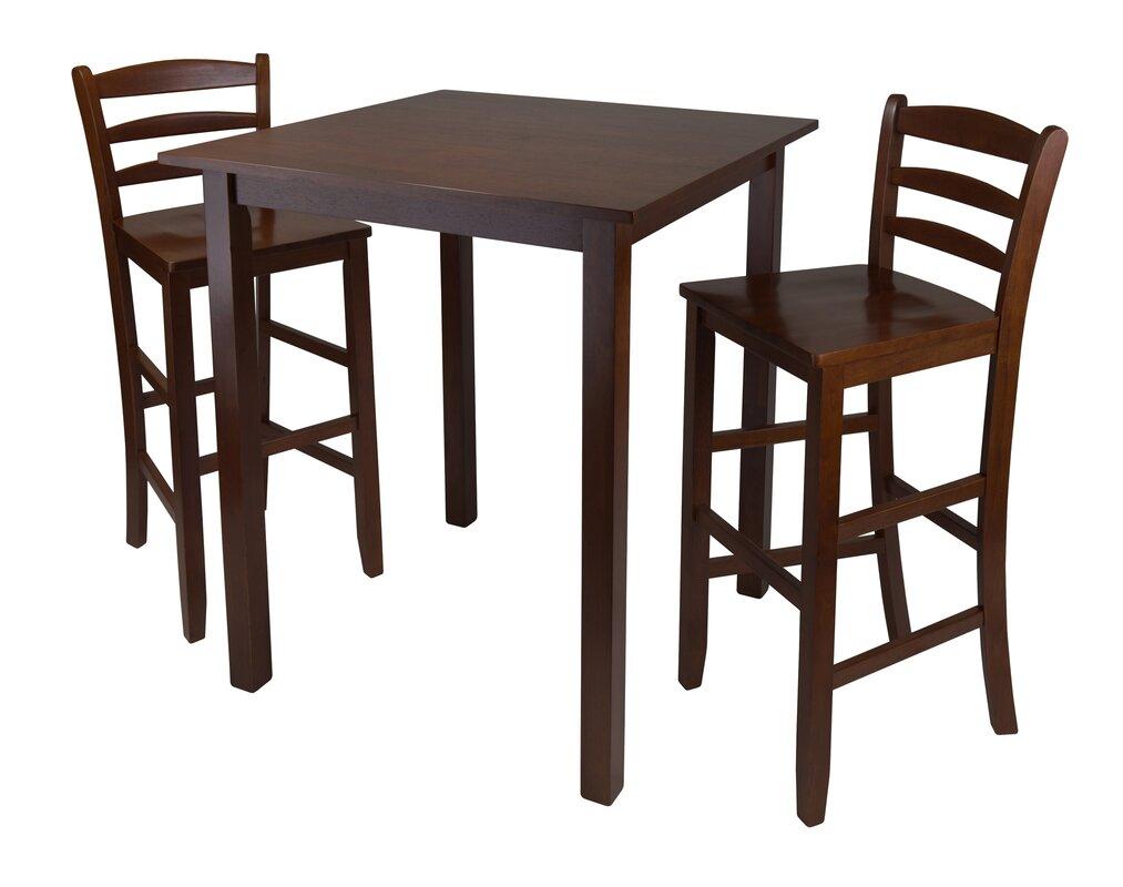 red barrel studio auburn road 3 piece pub table set reviews. Black Bedroom Furniture Sets. Home Design Ideas