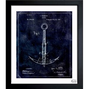 Anchor 1887 Framed Graphic Art by Breakwater Bay