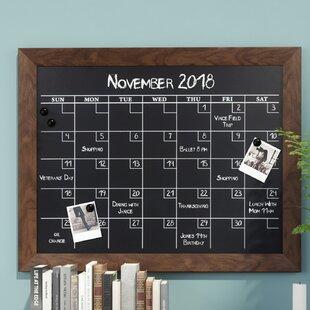Charmant Framed Wall Calendar   Wayfair