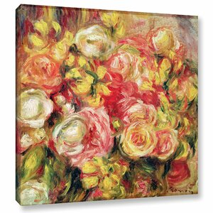 'Roses, 1915' by Pierre Renoir Painting Print on Wrapped Canvas by One Allium Way