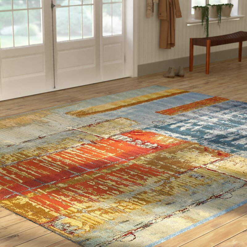 World Menagerie Camdyn Blue Red Indoor Outdoor Area Rug