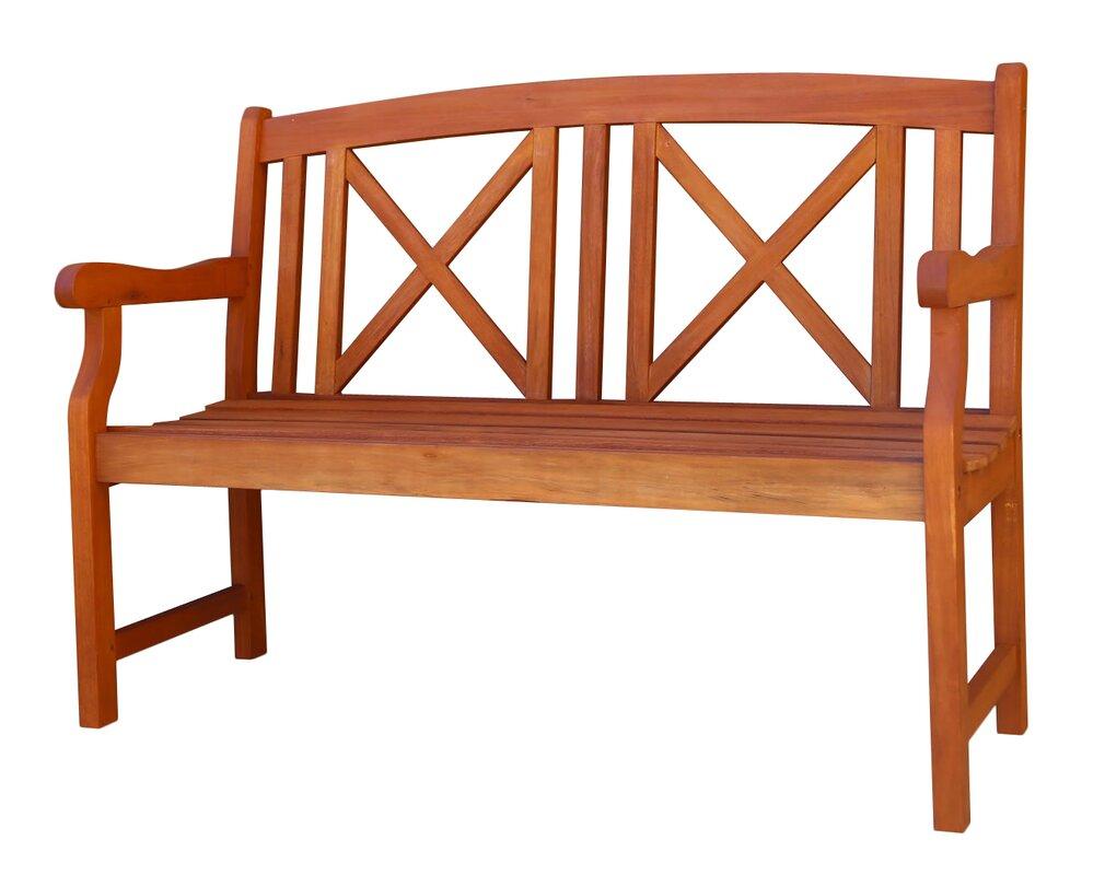 contemporary outdoor wood garden bench. vifah contemporary outdoor wood garden bench  reviews  wayfair