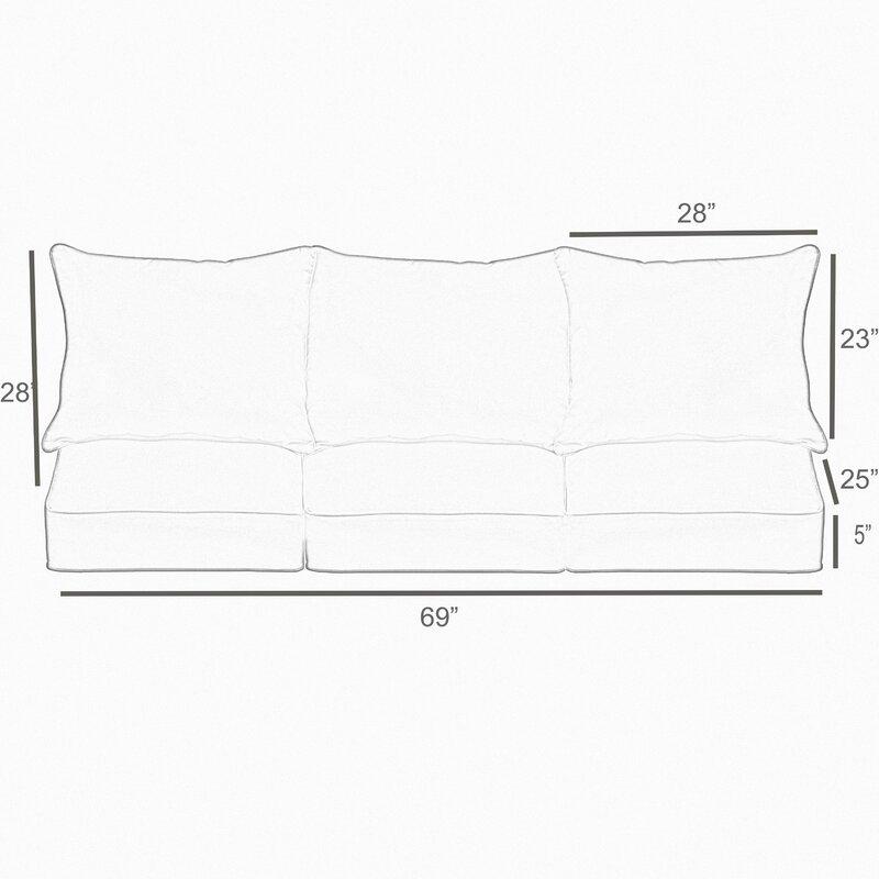 Mistana Geometric Piped 6 Piece Indoor/Outdoor Sofa Cushion Set ...