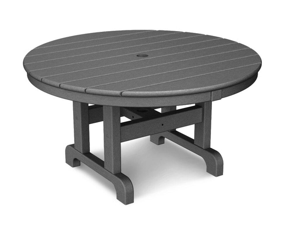 Wayfair Patio Table Round Patio Furniture Wayfair Patio: POLYWOOD® Round Conversation Coffee Table & Reviews