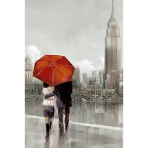 'Modern Couple In Ny' Painting Print on Canvas by East Urban Home