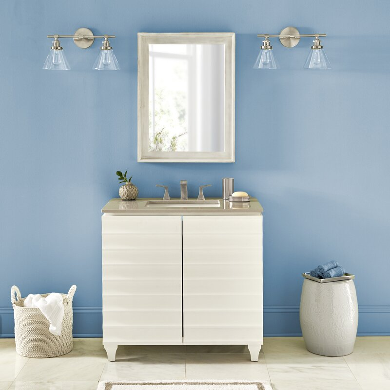 Beachcrest Home Ragnar 2 Light Vanity