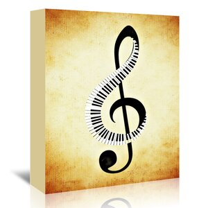 'Clef Music Musically' Graphic Art on Wrapped Canvas by East Urban Home