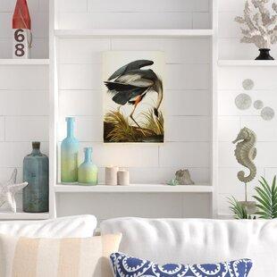 u0027Great Blue Heronu0027 Graphic Art on Wrapped Canvas & Great Gatsby Wall Art | Wayfair
