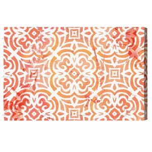 Peachy Afternoon Graphic Art on Wrapped Canvas by Bungalow Rose