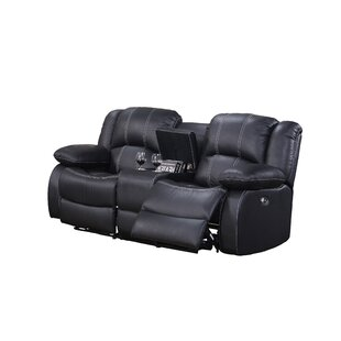 Kitts Leather Reclining Loveseat by Red Barrel Studio