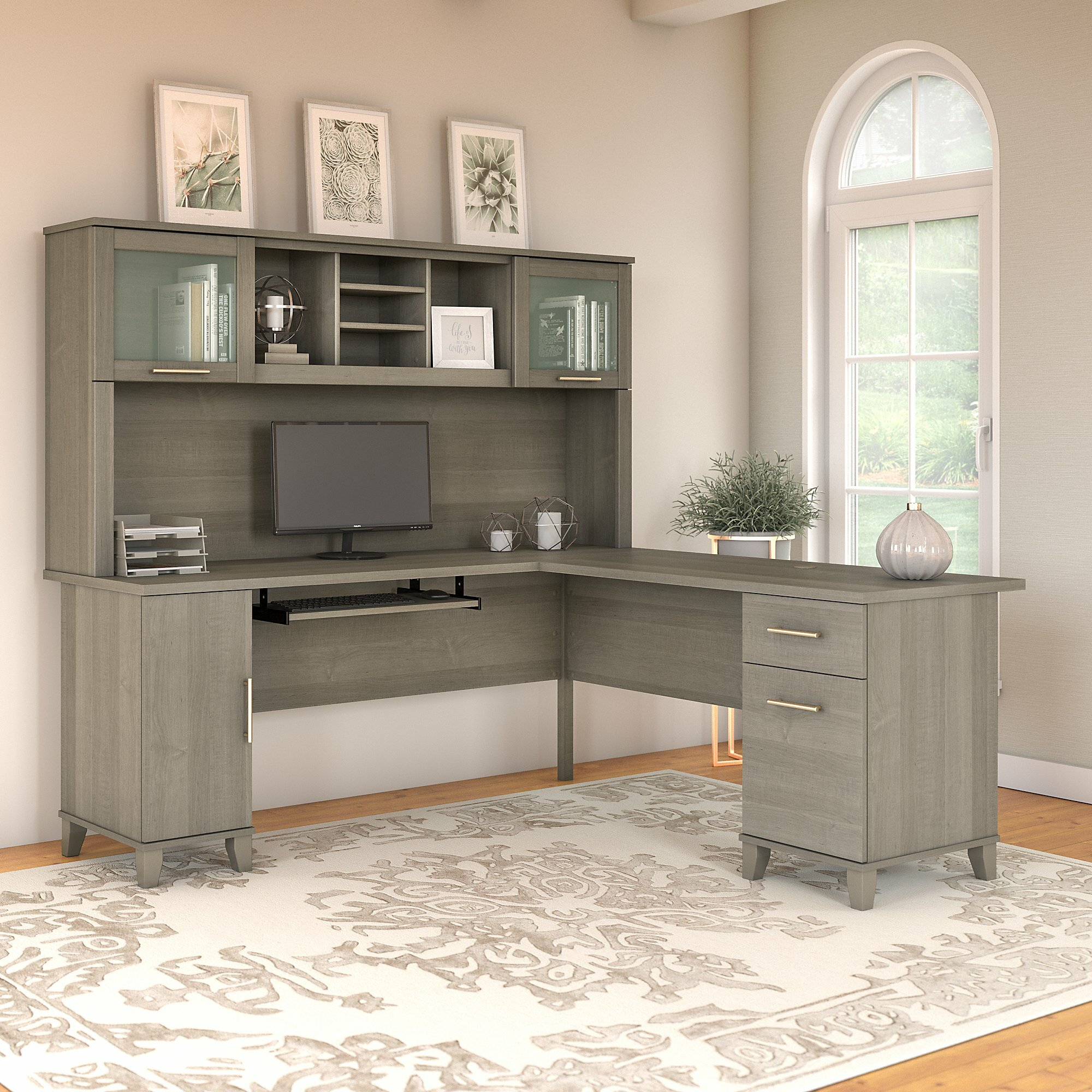 Desk Hutch Walmart Best Home Decorating Ideas