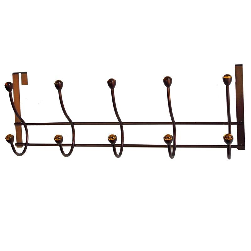 5 Hook Over The Door Coat Rack