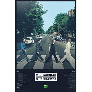 'The Beatles - Abbey Road Tracks' Framed Graphic Art Print Poster by East Urban Home