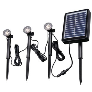 Solar 3 Light LED Pathway Light By Wildon Home ® Outdoor Lighting
