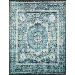 Yareli Blue/Black Area Rug
