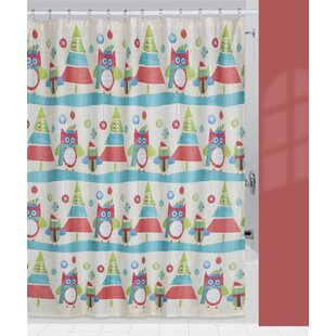 Holiday Owls Shower Curtain By Creative Bath