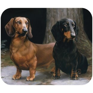 Bublitzs Dachshunds Path Mouse Pad by Winston Porter