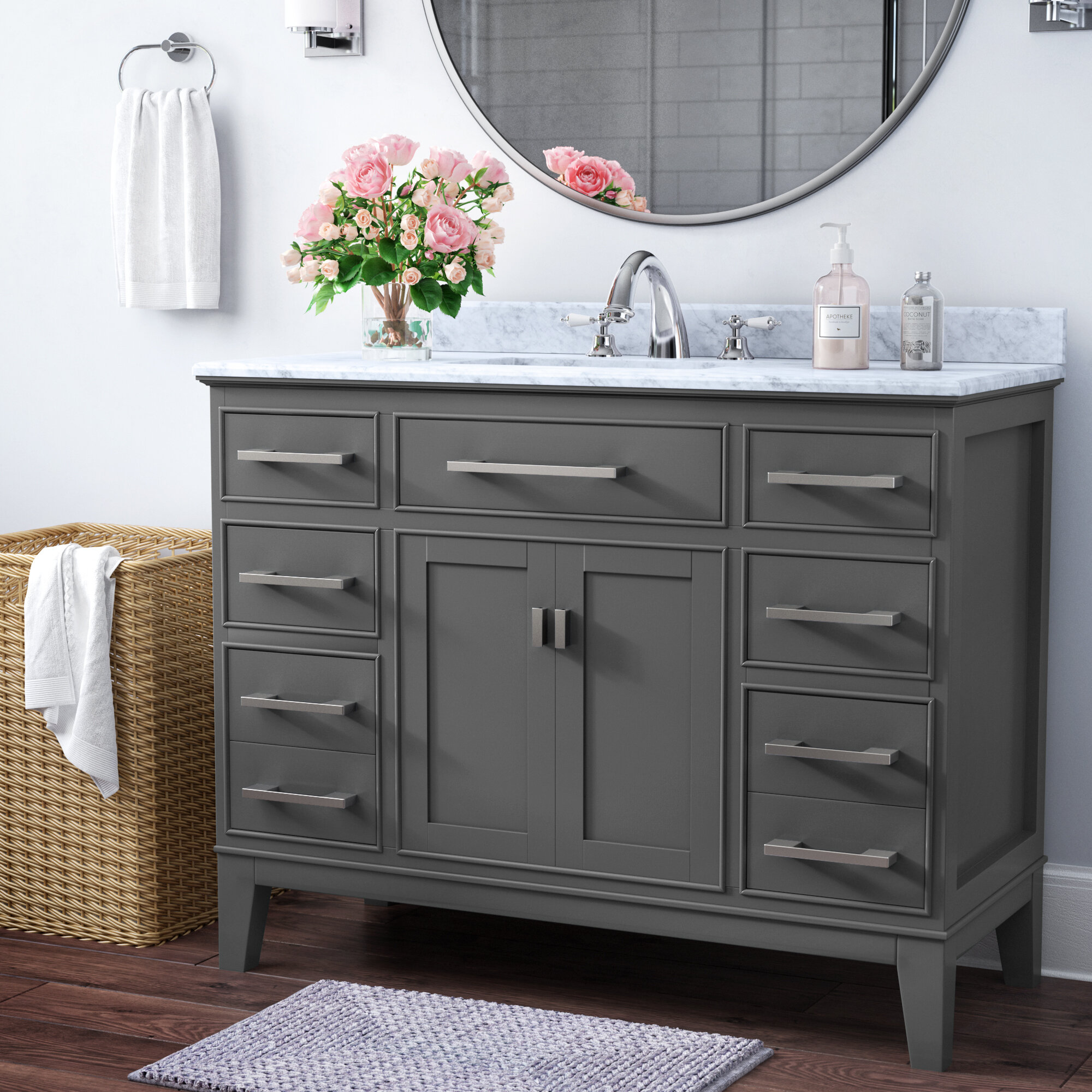 Charlton Home Arminta 48 Single Bathroom Vanity Set Reviews Wayfair
