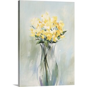 'Pale Arrangment II' by Sydney Edmunds Painting Print on Canvas by Great Big Canvas