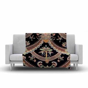 Check Prices Philip Brown Vintage Paisley Pattern Art Deco Fleece Blanket ByEast Urban Home