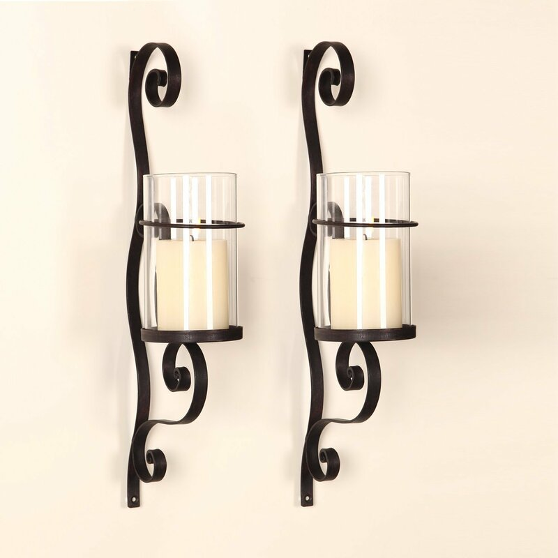 Wall Sconces Candle Holders.Iron Wall Sconce Candle Holder