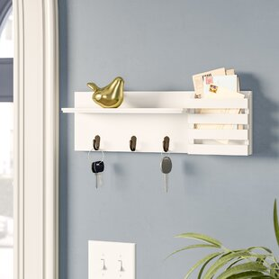 Greenside Utility 18 W X 6 H 4 25 D Shelf With Pocket And Hanging Hooks