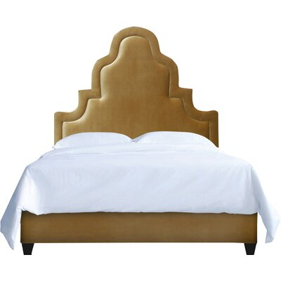 Meela Upholstery Platform Bed My Chic Nest Body Fabric: Bella Brown Sugar, Leg Color: Acrylic, Size: California King