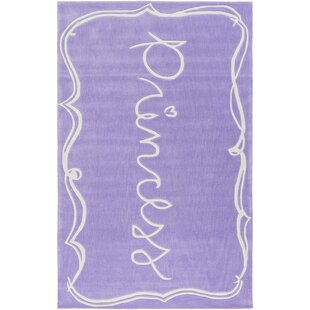 Great Price Cesar Hand-Tufted Bright Purple/White Area Rug ByZoomie Kids
