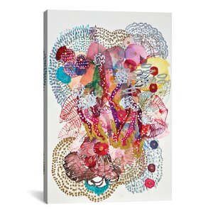 'Medusas' Framed Graphic Art on Wrapped Canvas by Bungalow Rose
