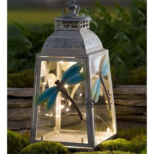 Metal 1 Light Dragonfly Lantern