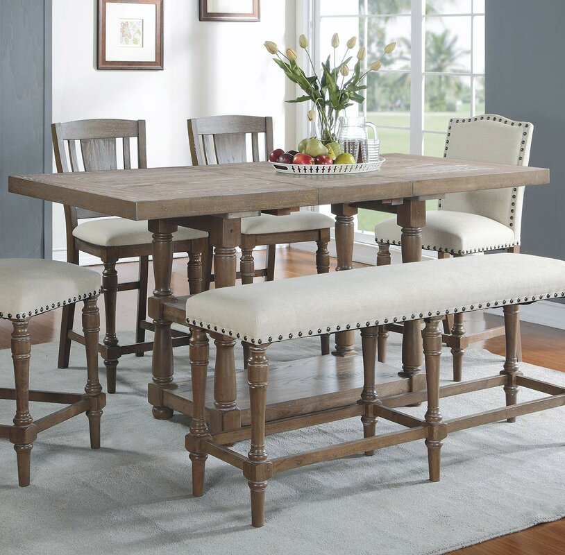 Fortunat Counter Height Extendable Dining Table & Reviews | Birch Lane