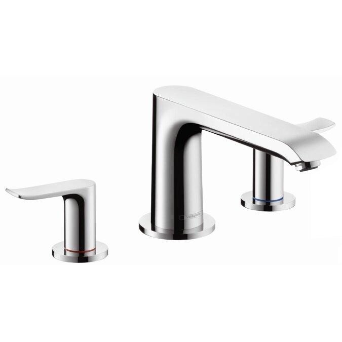 wall mount roman tub faucet. Metris Two Handle Deck Mounted Roman Tub Faucet Hansgrohe