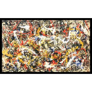 'Convergence' by Jackson Pollock Framed Painting Print by Amanti Art