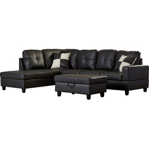 sc 1 st  AllModern : faux leather sectional couch - Sectionals, Sofas & Couches