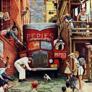 'Road Block' by Norman Rockwell Painting Print on Wrapped Canvas by Marmont Hill