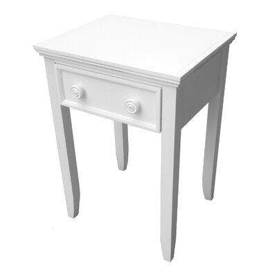 Baileyville 1 Drawer Nightstand Color: White by Beachcrest Home