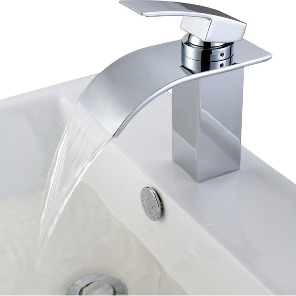 Sumerain Deck Mount Waterfall Bathroom Sink Faucet With Hoses U0026 Reviews |  Wayfair