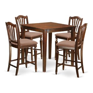 Vernon 5 Piece Counter Height Pub Table Set by East West Furniture