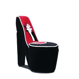 Best Elford Glamor Girl Piping High Heel Storage Side Chair By House Of  Hampton Bedroom Furniture